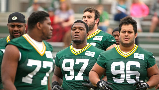 Green Bay Packers 1st round draft pick defensive tackle Kenny Clark (97) during minicamp at Ray Nitschke Field June 16, 2016.