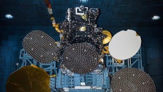 The Hispasat 30W-6 communications satellite, built by Palo Alto, California-based SSL.