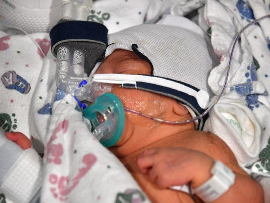 Isabella Guillen was born at 5:00 p.m. Monday as the