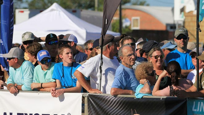 Spectators watch the action during the 61st annual Big Rock Blue Marlin Tournament in Morehead City last year. This year's tournament will still be held this year, but will have some changes amid COVID-19.