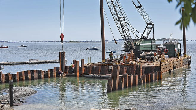 Construction at the Quincy Maritime Center and public boat ramp in Houghs Neck on Thursday June 18, 2020 Greg Derr/The Patriot Ledger