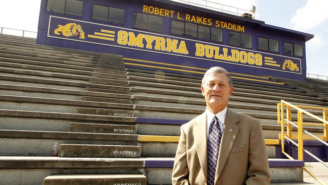 """Robert """"Bud"""" Raikes was a coach for 14 years before becoming Smyrna's principal from 1973-2011."""