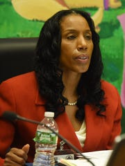 Dr. Nicole Williams, superintendent for the Poughkeepsie City School District, pictured at a meeting on Oct. 4, 2017 in the Jane Bolin Administration Building on College Avenue.