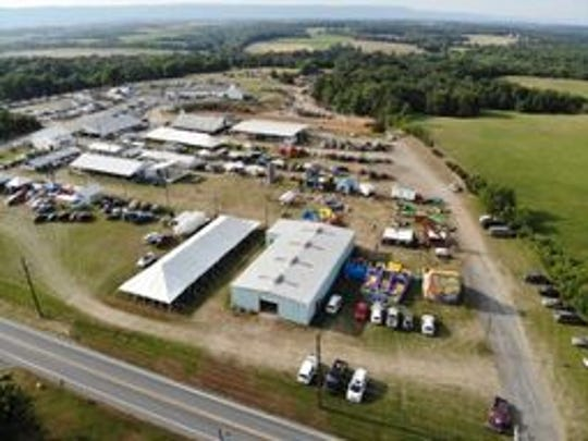 An aerial shot of the 2018 Franklin County Fair, held at the Chambersburg Rod and Gun Club on Warm Spring Road south of Chambersburg. The club opted to not renew the fair's contract for 2019.