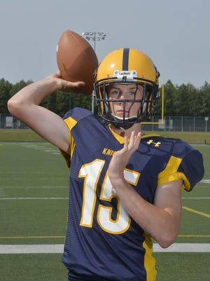 Eisenhower High School quarterback Owen Trumbull.