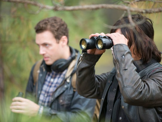 Norman Reedus as Daryl Dixon and Ross Marquand as Aaron