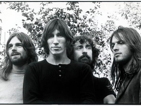 The members of Pink Floyd circa 1974-1975. Rick Wright, left, Roger Waters, Nick Mason and David Gilmour. Photo by Storm Thorgerson [Via MerlinFTP Drop]
