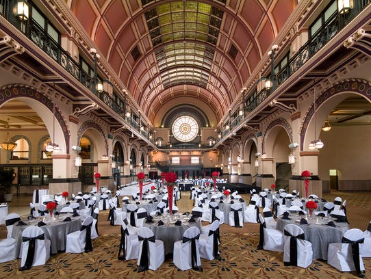 6 popular wedding venues in indianapolis the grand hall at crowne plaza in union station is a popular location for weddings in indianapolis photo photo provided by general hotels company junglespirit Images