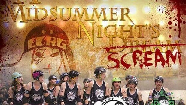 The Electric City Roller GrrrlZ take on Dickinson Roller Derby Aug. 29 at the Four Seasons Arena.