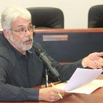 Otero County Commissioners ask Rick Merrick, South Central Mountain RC&D representative, questions about current thinning projects in Otero County at their County Commission meeting Thursday morning.