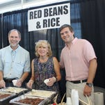 Pierce, Darlene and Paul Dotherow provided samples of red beans and rice made with venison sausage.