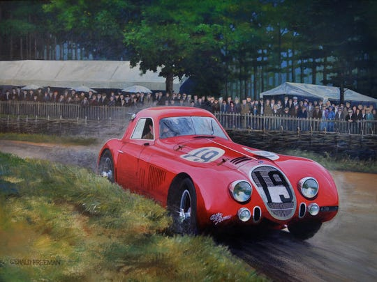 A painting by Gerald Freeman, who will be exhibiting