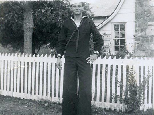 Bob Paillet poses in his U.S. Navy uniform during the 1960s.
