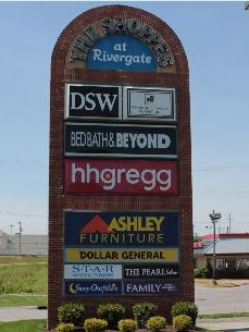 A listing of tenants at The Shoppes at Rivergate.