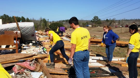 Two days before Christmas a tornado shook North Mississippi and left a path of destruction through Holly Springs.