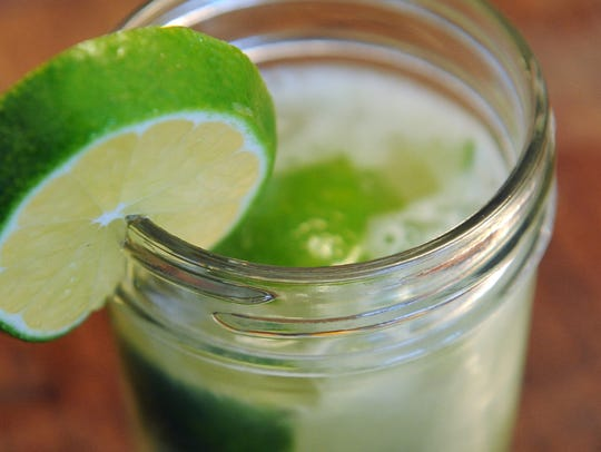 The basic caipiroska, a popular Brazilian cocktail,