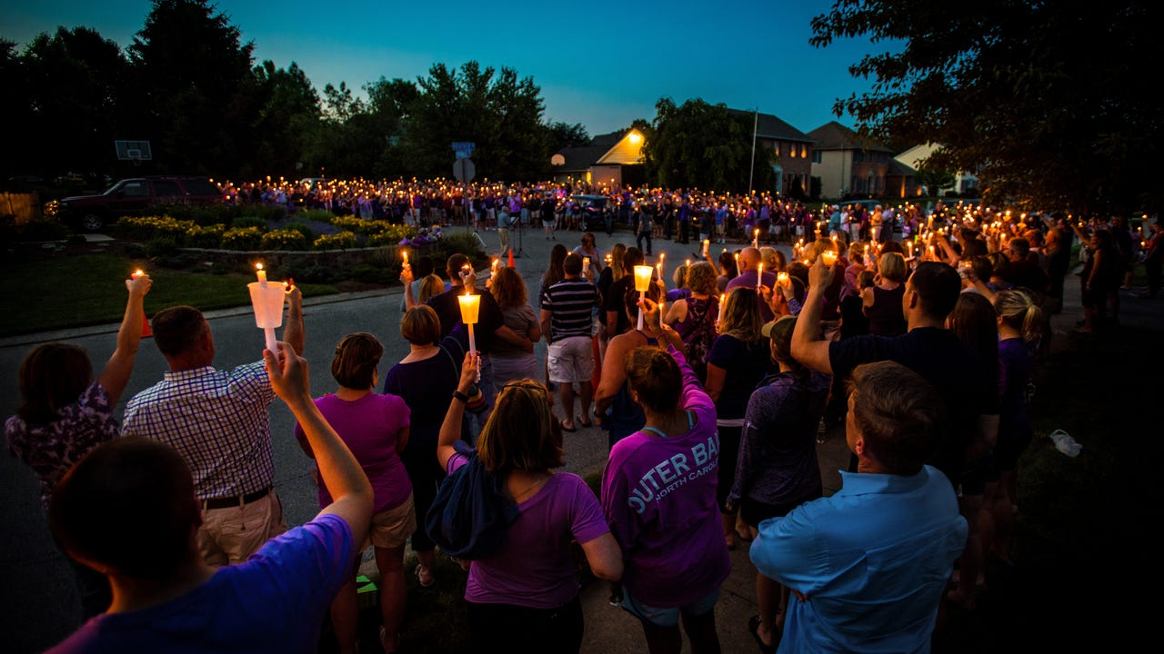 The community gathered for a vigil remembering the 27-year-old Dallastown grad killed in an arson.