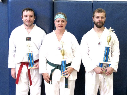 Participants in a recent fall testing at the Stevens
