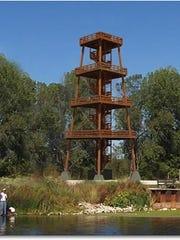 The tower at Broughton Sheboygan Marsh Park.