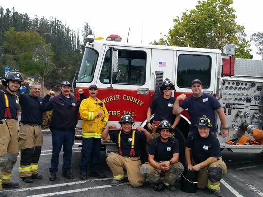 North Monterey County Professional Firefighters collect for MDA.