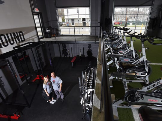Brannon and Brittany Riffle opened Underground Athletics in Crooksville on Friday. The gym offers a variety of workout areas.