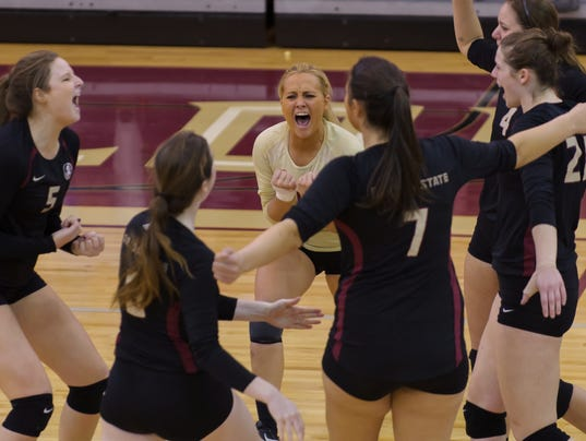 NCAA Women's Volleyball: FSU Women's Volleyball falls to the Louisville Cardinals 3-2
