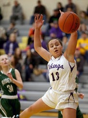 North Kitsap's Olivia Selembo averaged 11 points, four rebounds, three assists and three steals for the Vikings.