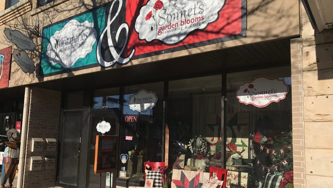 Tina Marie's Unique Boutique and Sonnet's Garden Blooms in downtown Appleton.