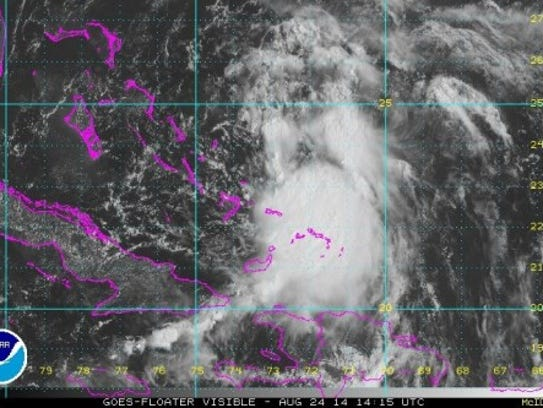 Tropical Storm Cristobal today (Source: National Hurricane Center)
