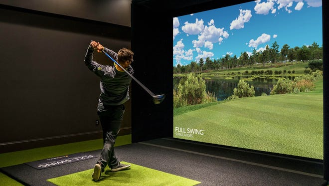"""Stix Golf Entertainment in Germantown will use three Full Swing golf simulators, which owner Ryan Hughes said are """"the most realistic simulators on the market."""""""