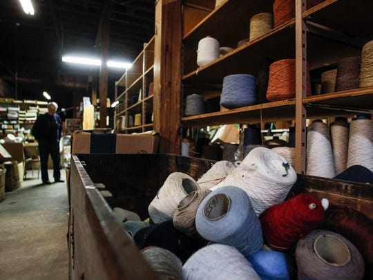 The back warehouse area of Davidson Old Mill Yarn Store