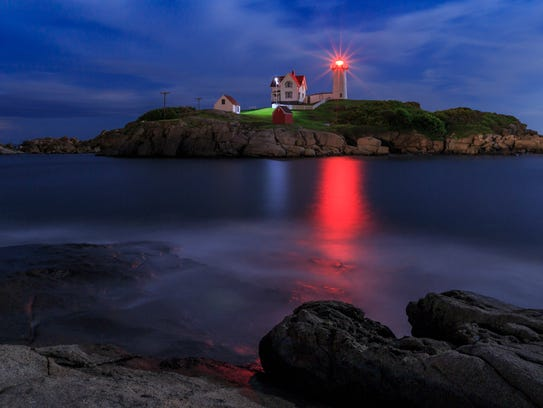 The Cape Neddick Lighthouse is a popular location for visitors in Maine.
