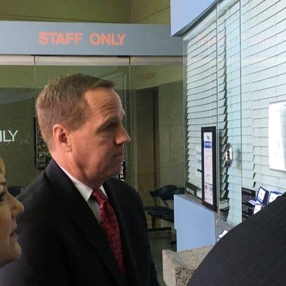Palm Springs ex-mayor surrenders at Riverside jail