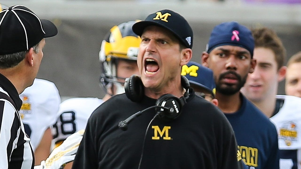 After new Georgia coach Kirby Smart raised questions, Jim Harbaugh fired back on Twitter.