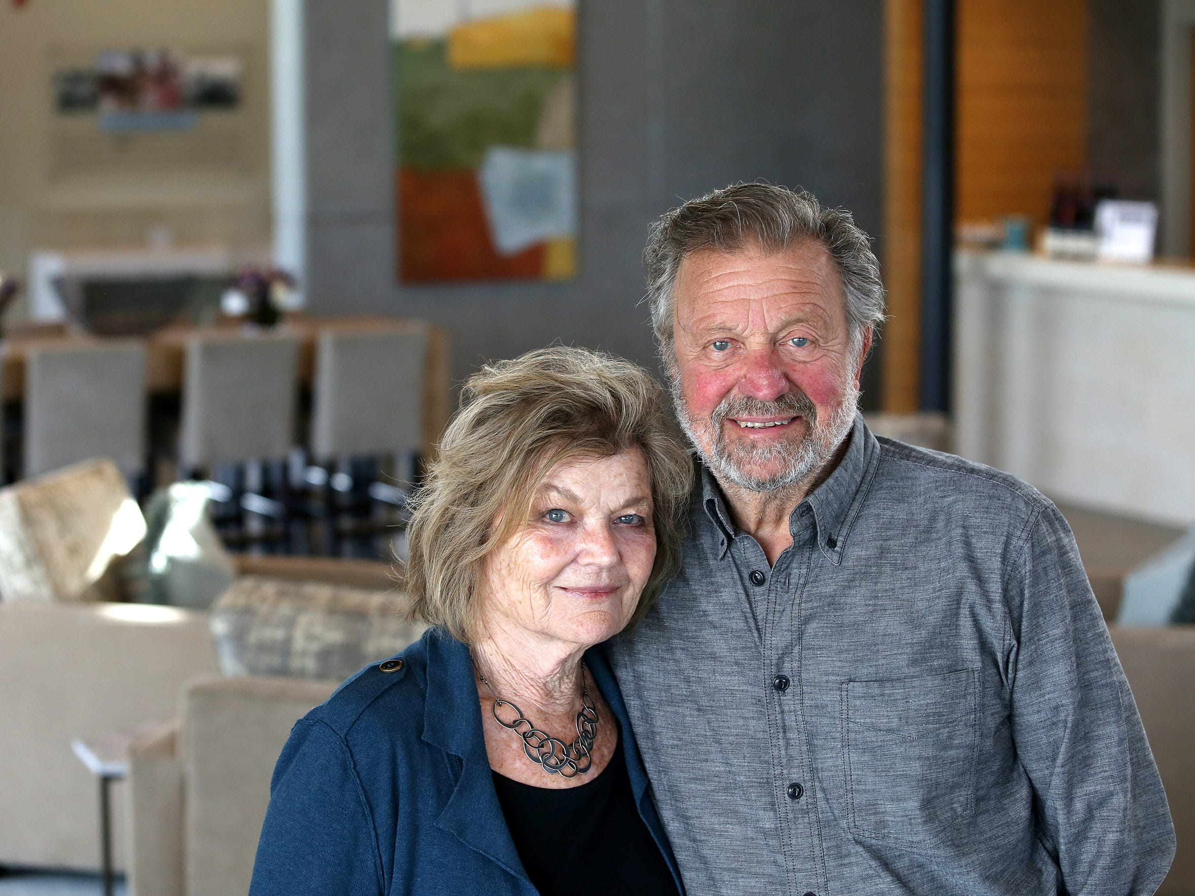 Dick and Nancy Ponzi are pictured Feb. 11, 2015, at