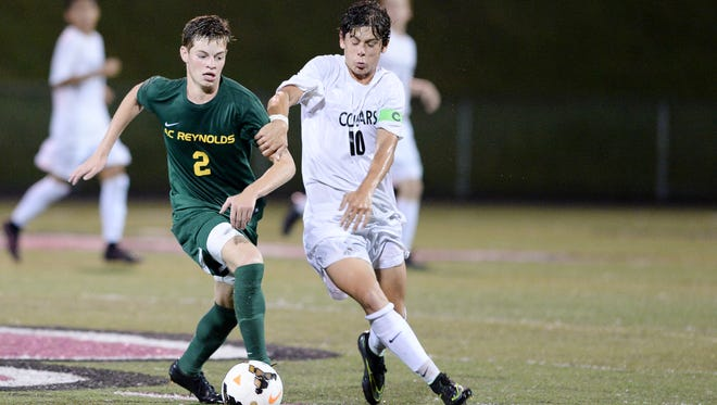 Reynolds' Brendan Mann (2) has been selected to play in July's East-West All-Star boys soccer game.