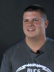 Caravel junior lineman Jake Reed