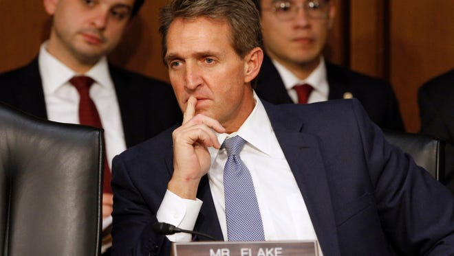 U.S. Sen. Jeff Flake, R-Ariz. won't get answers about paid military salutes until at least next year.