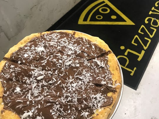 A Nutella pizza at the new Pizzava in Midtown Reno is finished with a flourish of coconut. Can you eat it all?