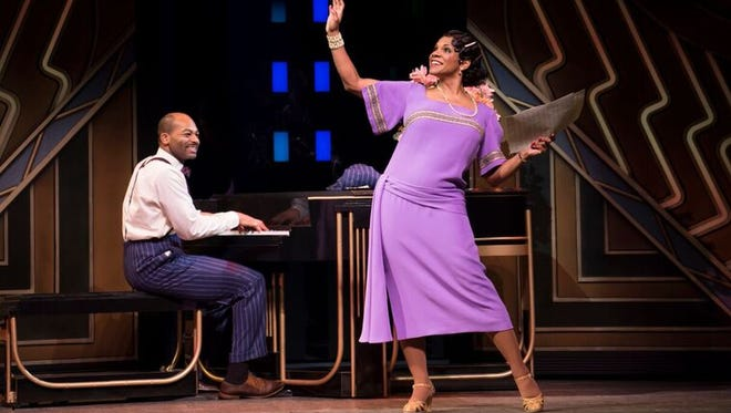 Audra McDonald, right, performs with Brandon Victor Dixon in Broadway's 'Shuffle Along, or the Making of the Musical Sensation of 1921 and All That Followed.'