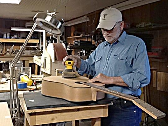 Gary Clardy crafts custom guitars at his Dickson County