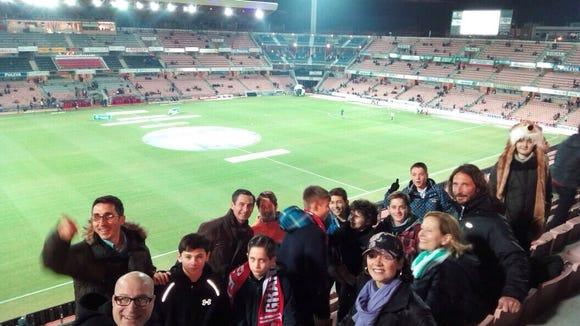 Group at Granada match