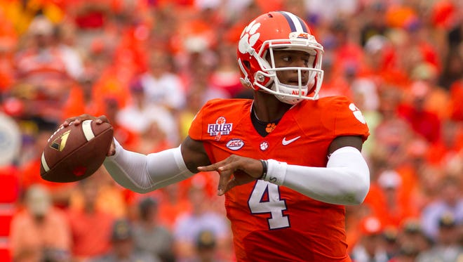 Clemson's Deshaun Watson has tossed for 1,936 yards this season and 20 touchdowns.