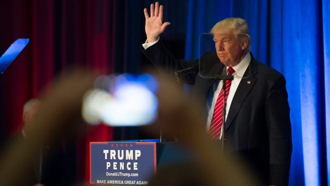 Donald Trump gives a foreign policy speech, Youngstown, Ohio, Aug. 15, 2016.