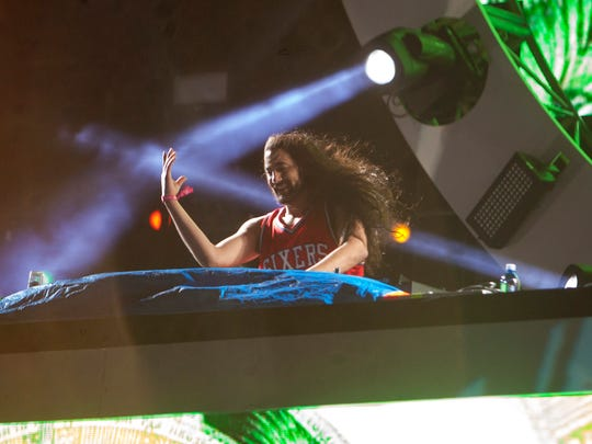Space Jesus performs at the annual Electric Daisy Carnival