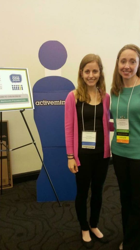 Sarah Spitz with Active Minds founder and Executive Director Alison Malmon. (Photo courtesy Spitz)