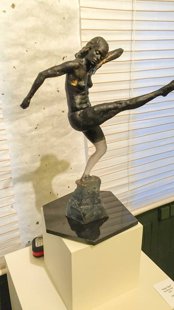 Olivia Kim sculpture of Natalie Rogers-Cropper. Photo credit: Norwood Pennewell