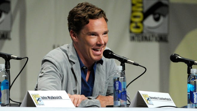 "Benedict Cumberbatch attends the ""DreamWorks Animation"" panel on Day 1 of Comic-Con International on Thursday, July 24, 2014, in San Diego."