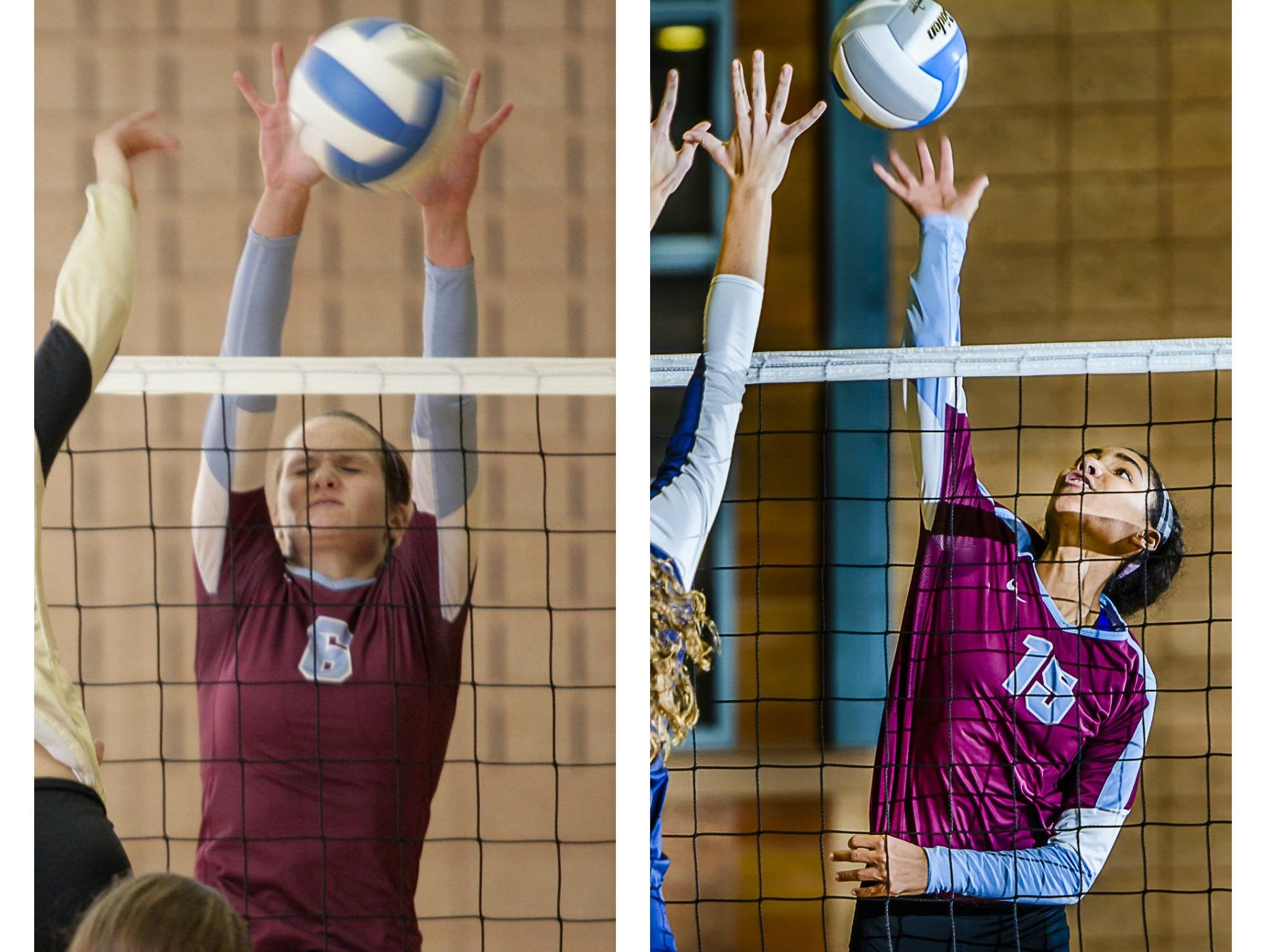 Daria Richards (left) and Rachel Thomas have made an impact more than in front row for Okemos this fall.