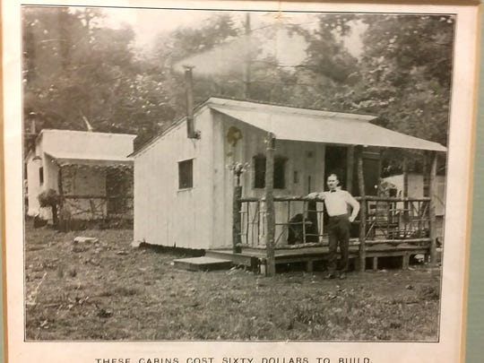 This historical photo shows one of the early patients cabins, built before the seven story unit one in 1938.